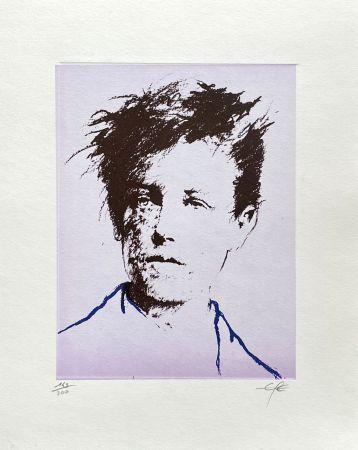 Litografia Pignon-Ernest - Portrait de Rimbaud