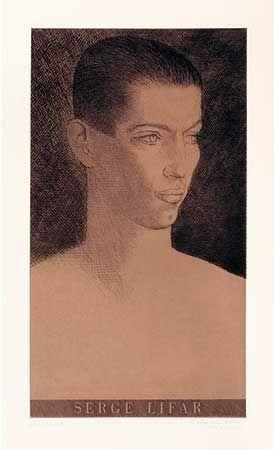Incisione Marcoussis - Portrait de Serge Lifar