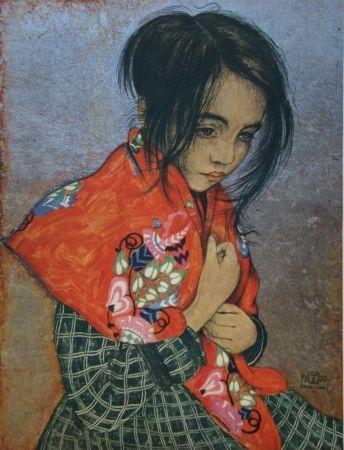 Incisione Sauer - Portrait d'enfant