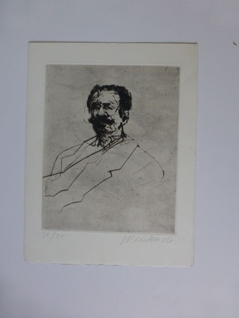 Incisione Weisbuch - Portrait d'homme