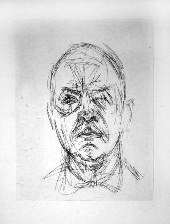 Incisione Giacometti - Portrait d'Iliazd