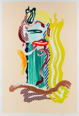 Multiplo Lichtenstein - Portrait, From Brushstroke Figures Series