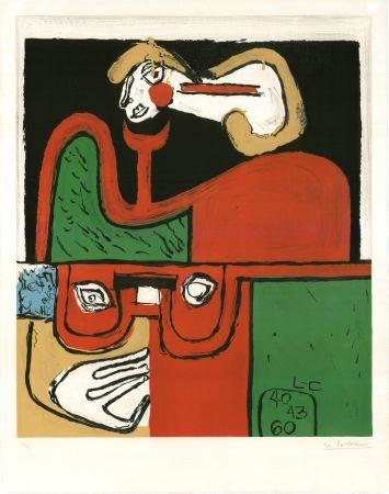 Litografia Le Corbusier - Portrait (hand-signed & numbered)