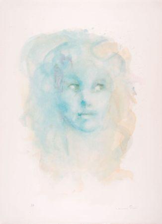 Litografia Fini - Portrait imaginaire bleu