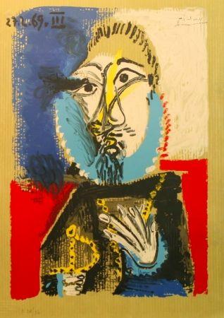 Litografia Picasso - Portrait Imaginaires 27.2.69 III