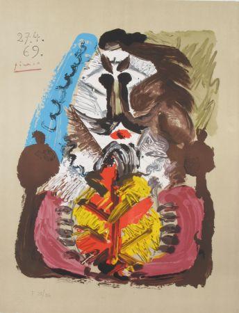 Litografia Picasso - Portrait Imaginaires 27.4.69