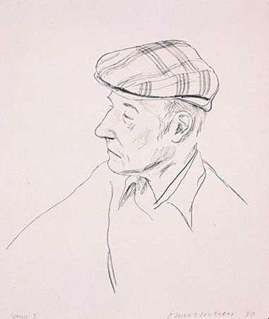 Litografia Hockney - PORTRAIT OF BURROUGHS