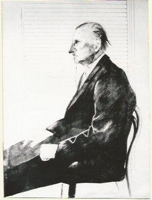 Litografia Hockney - Portrait of Felix Mann