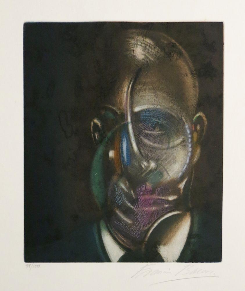 Acquatinta Bacon - Portrait of Michel Leiris
