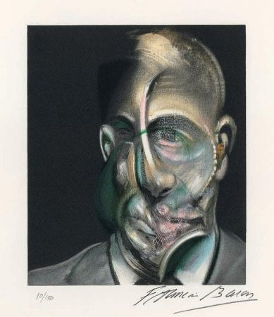 Litografia Bacon - Portrait of Michel Leiris