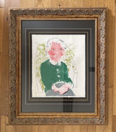 Litografia Hockney - Portrait of Mother 1