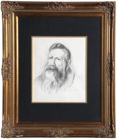 Litografia Renoir - Portrait of Rodin
