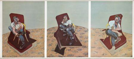 Litografia Bacon - Portrait Von Lucien Freud
