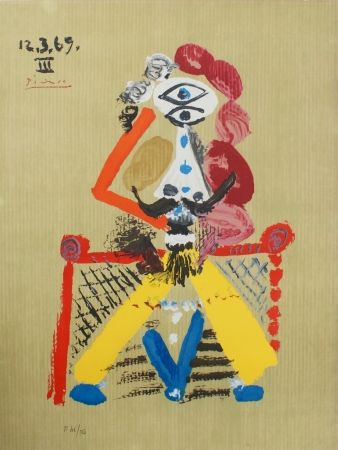 Litografia Picasso - Portraits Imaginaires 12.3.69 III SOLD