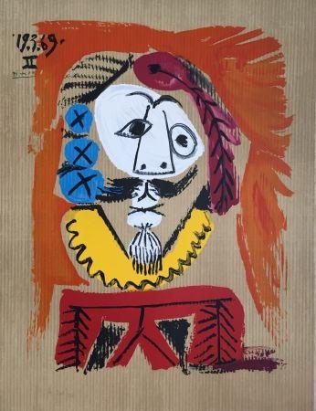 Litografia Picasso - Portraits Imaginaires 19.3.69 II