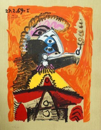 Litografia Picasso - Portraits Imaginaires 27.2.69 I