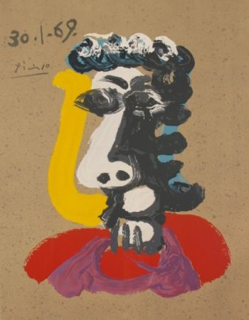Litografia Picasso - Portraits Imaginaires 30.1.69