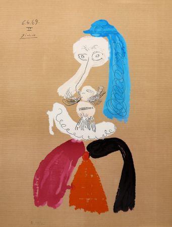 Litografia Picasso - Portraits Imaginaires 6.4.69 II