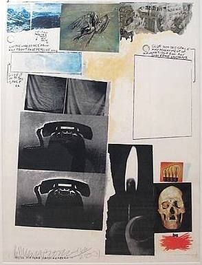 Serigrafia Rauschenberg - Poster for Peace