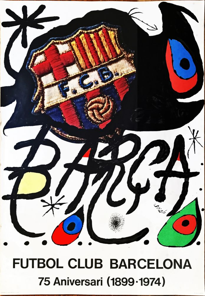 Non Tecnico Miró -  Poster for the 75th Anniversary of the Barcelona Football Club
