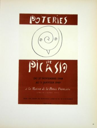 Litografia Picasso (After) - Poteries 1948