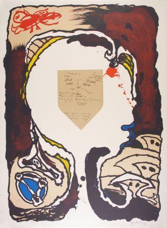 Litografia Alechinsky - Pour Jorn