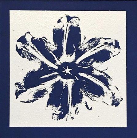 Serigrafia Robierb - Power Flower (Blue)