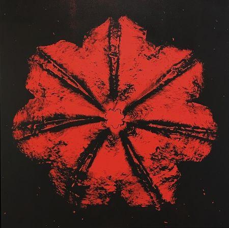 Serigrafia Robierb - Power Flower N-1 (Red on Black)