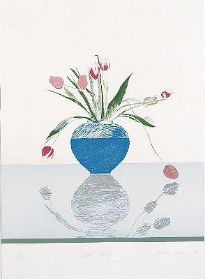 Litografia Hockney - Pretty Tulips