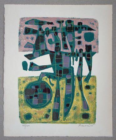 Litografia Manessier - Printemps Nordique II. - 1956