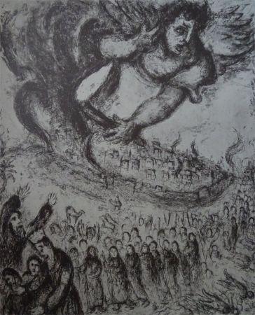 Acquaforte Chagall - Prise de Jerusalem