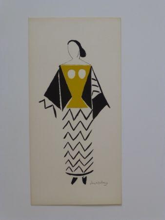 Litografia Delaunay - Projet De Costume