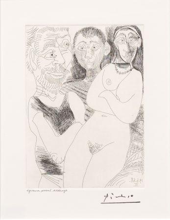 Incisione Picasso - Prostitutee et Marins