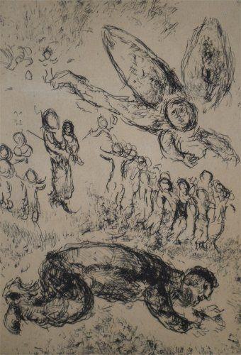 Acquaforte E Acquatinta Chagall - Psaumes de David, planche 13