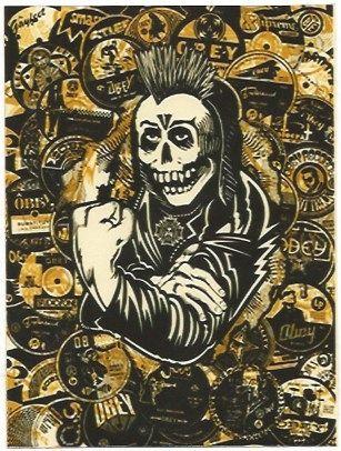 Serigrafia Fairey - Psycho Posse Gold