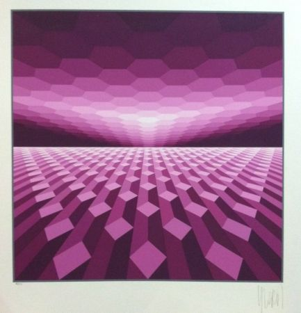 Serigrafia Yvaral - Purple horizon