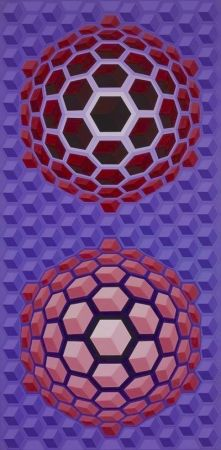 Multiplo Vasarely - Purple long