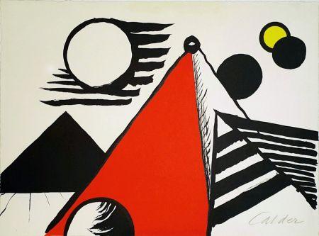 Litografia Calder - Pyramid Rouge