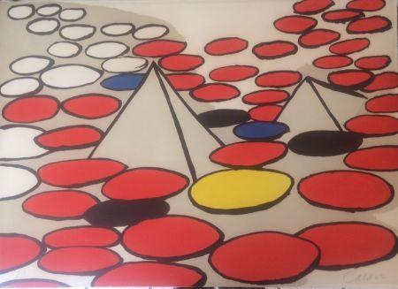 Litografia Calder - Pyramides