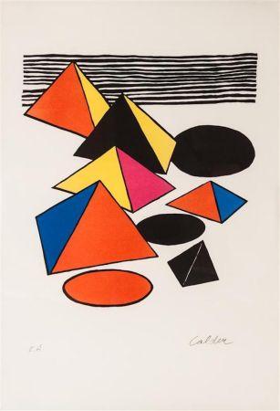 Litografia Calder - Pyramids And Circles