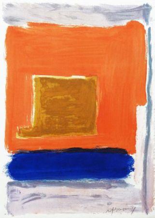Incisione Ràfols Casamada - Quadrat i taronja