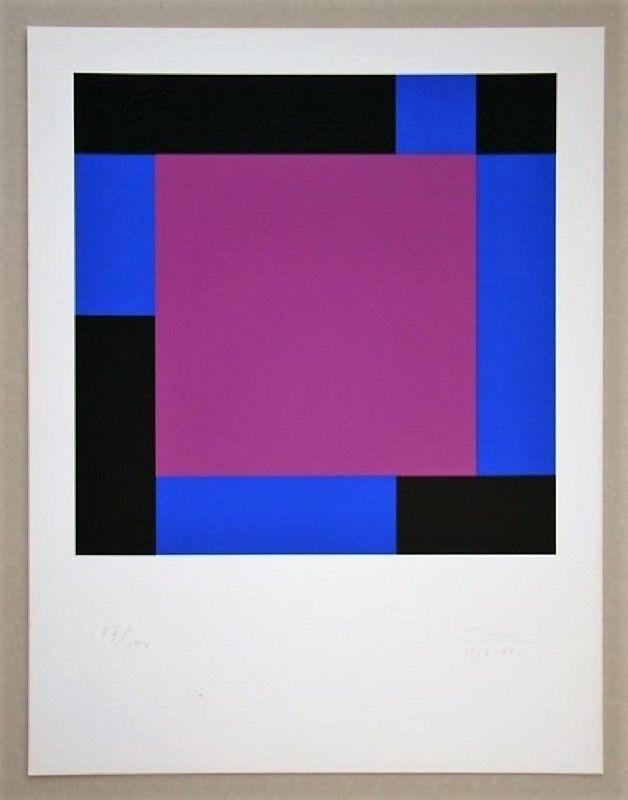 Serigrafia Bill - Quadrat in gegenläufigen Reflexionen