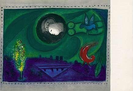 Litografia Chagall - Quai de Bercy