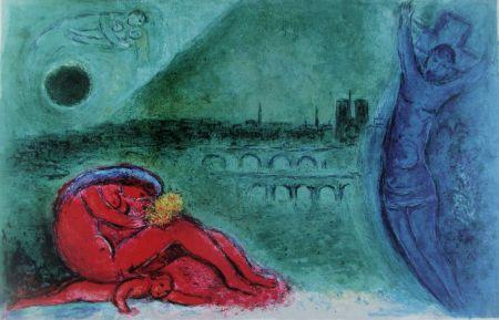 Litografia Chagall - Quai De La Tournelle (Regards Sur Paris)