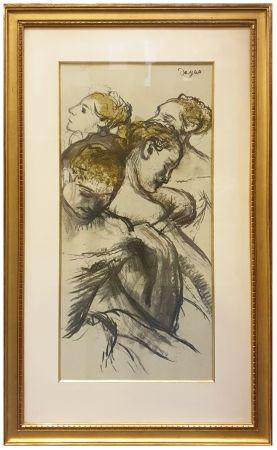 Collografia Degas - QUATRE BALLERINES (1898)