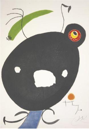 Acquaforte E Acquatinta Miró - Quatre Colors Aparien El Món, Plate Ii