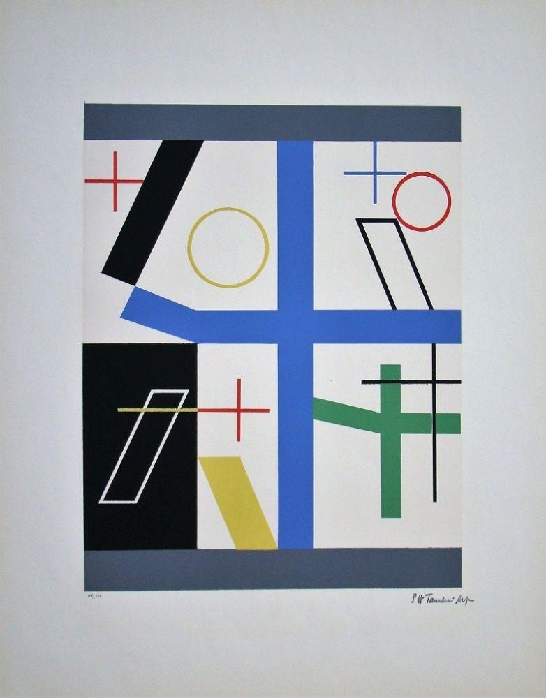 Serigrafia Taeuber-Arp - Quatre espaces à croix brisée