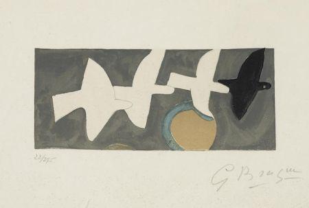 Litografia Braque - Quatre Oiseaux