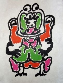 Litografia Lapicque - Quetzalcoalt