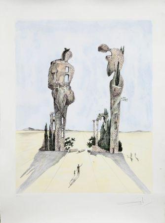 Acquaforte Dali - Réminiscence Archéologique de l'Angélus de Millet (1983)